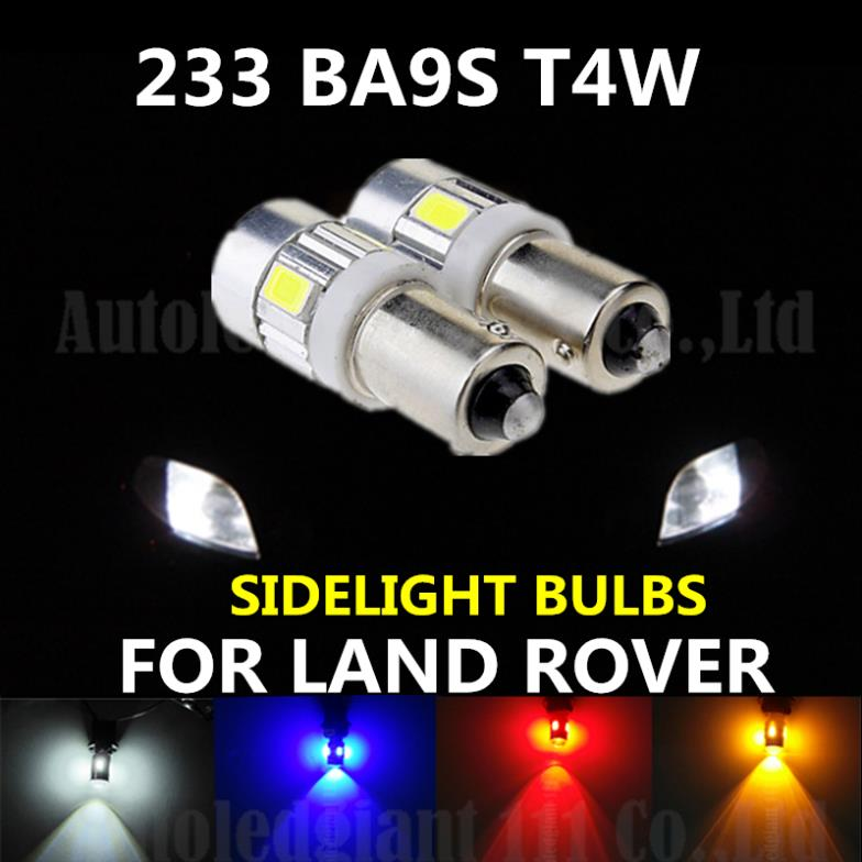 2PCS 233 BA9S T4W For Samsung High Power 6 5630S MD LED WHITE BLUE RED YELLOW CAR SIDELIGHT BULBS FOR LAND RANGE ROVER ROVER (China (Mainland))