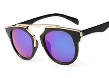 Super Star Fashion Sunglass 2015 new cat eye coating sunglasses women brand designer vintage sun glasses