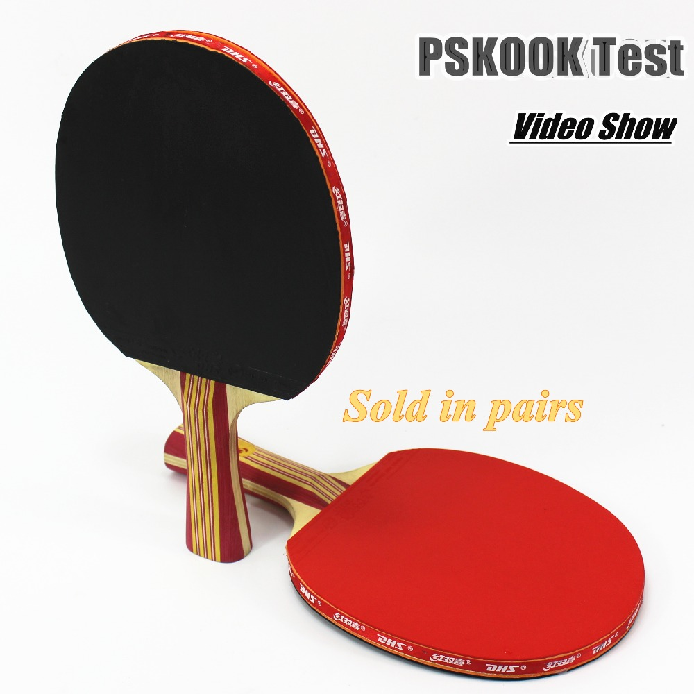 PSKOOK Play Table Tennis Rackets Rubber Bat for Fast Attack and Low Price Long Handle Ping Pong Bat(China (Mainland))