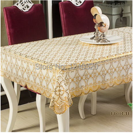 PVC dining table cloth oilproof tablecloth plastic waterproof oil disposable bronzier tablewear 137*182CM/PC table cover pad(China (Mainland))