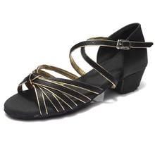 הגעה חדשה באיכות גבוהה סיטונאי בנות ילדים/ילד/ילדים סלוניים טנגו סלסה נעליים נמוך העקב נעליים 20 צבעים(China)