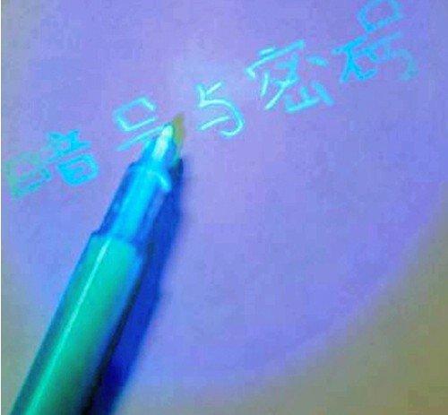 1piece/lot , 2 1 INK Pens, Invisible UV Pen, secret pen, 4 colors