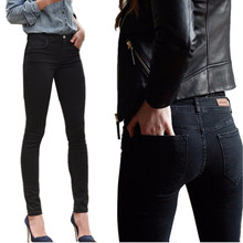 2015 spring women's jeans Stretch Skinny Jeans woman feetquality black color casual pencil pants female washing