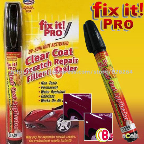 Hot 200pcs/lots Fix It Pro,Clear Car Scratch Repair Pen for Simoniz,clear coat car scratch repair pen(China (Mainland))