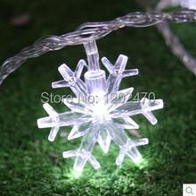 Украшение сад украшение компактный маленькая снежинка фары 10 метров фонарь шнурок фары из светодиодов 100