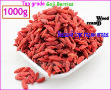 1000g Top Grade Goji Berries Organic Dried Wolfberry Ning Xia Small Goji Berry 1KG(2.2LB) Chinese Lycii Herbal Tea