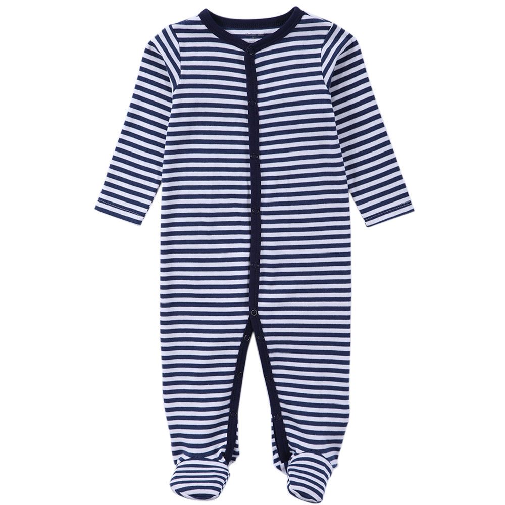 Newborn Boy Clothes Autumn and Spring Baby Clothing Stripe Baby Clothing Long Sleeve Jumpsuits Infant Infant Clothes 0-12 Months(China (Mainland))