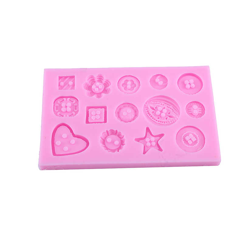 1Pcs Home Kitchen Backing Tool Buttons Mould Flower Silicone Fondant Mold Cake Decorating Baking Sugarcraft DIY New(Hong Kong)