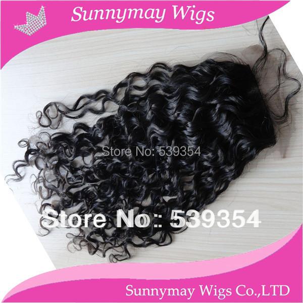 Фотография Fast shipping sunnymay silk top closure 100% human hair Malaysian virgin hair silk base curly lace closure in stock