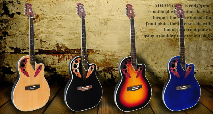 41 inch AIDY Ovation Style Series Hyphosis Back 24 Frets Electric Box Guitar EQ Acoustic Guitar With 4-band Pick up(China (Mainland))