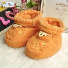 2016 New Princess Baby Shoes Unisex Infant Child Soft Sole Cotton Shoes Zapatos De Bebe Cute Girl Prewalker Children Bear Shoe(China (Mainland))
