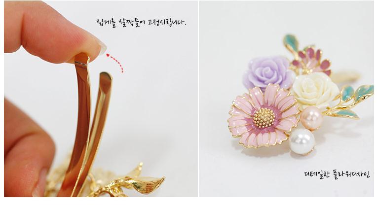 Hot Sale Fashion Women Girls Crystal Rhinestone Flowers Hair Clip Beauty Hairpin Barrette Head Ornaments Hair Accessories
