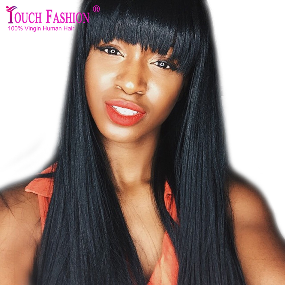 Yaki Full Lace Wigs With Bangs 17