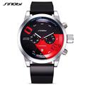 SINOBI New Fast Furious Chronograph Mens Sports Wrist Watches Rubber Watchband Luxury Brand Males Geneva Quartz