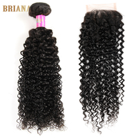 Peruvian Virgin Hair With Closure 4 Bundle 7a Grade Peruvian Curly Hair With Closure  Queen Hair Products With Closure Bundle