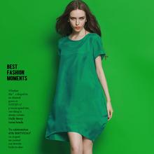 Buy Women Summer dress 2017 Plus Size clothing Short Sleeve Cuprammonuium Summer Dress Retro Loose Casual Asymmetry Dresses Vestidos for $45.56 in AliExpress store