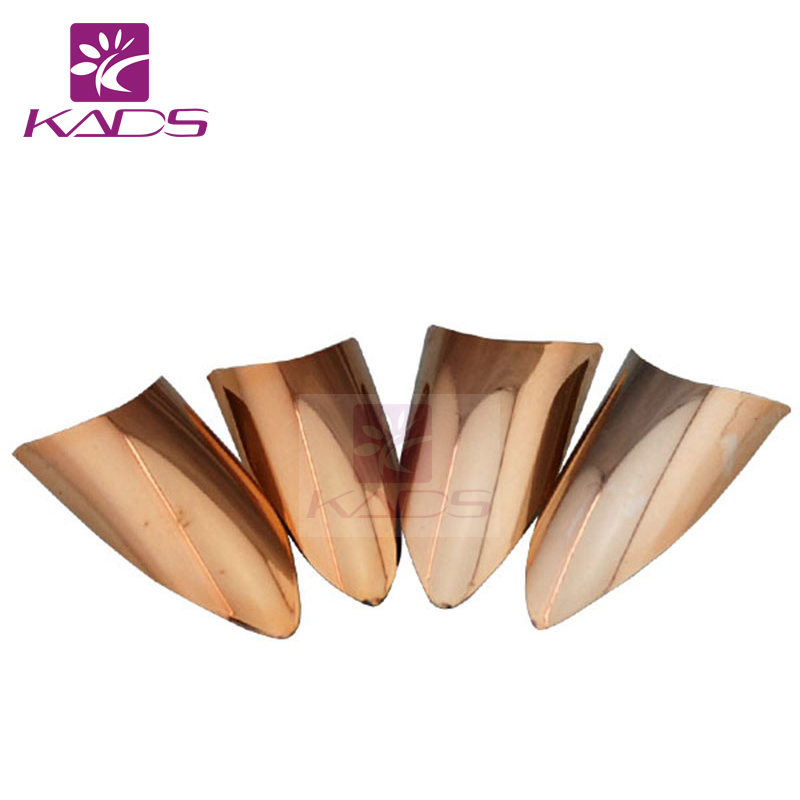 KADS Pro 20pcs Acrylic French False Nail Tips Metallic Gold Color Half Cover Sharp Fake Nails For Salon DIY Manicure Art Design(China (Mainland))