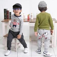 Cute Bird Pattern Pants Kids Toddler Boys Cotton Warm Harlan Pants Trousers 2-7Y S01(China (Mainland))