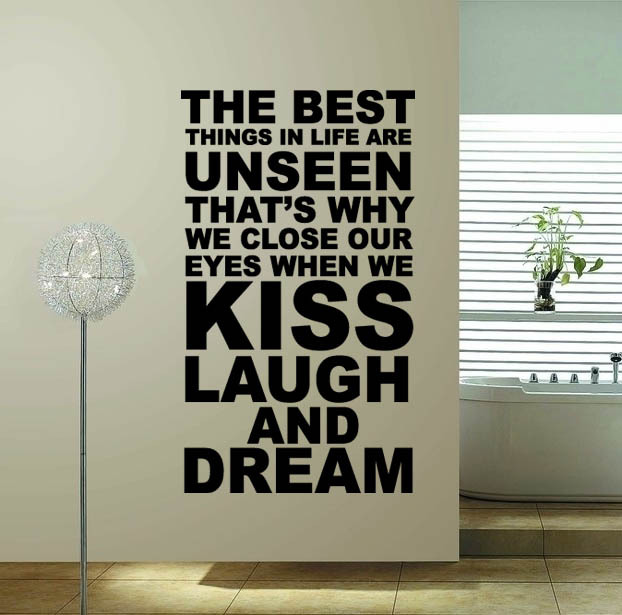60 100 the best thing hot sale word quote wall decor for Decoration quotes sayings