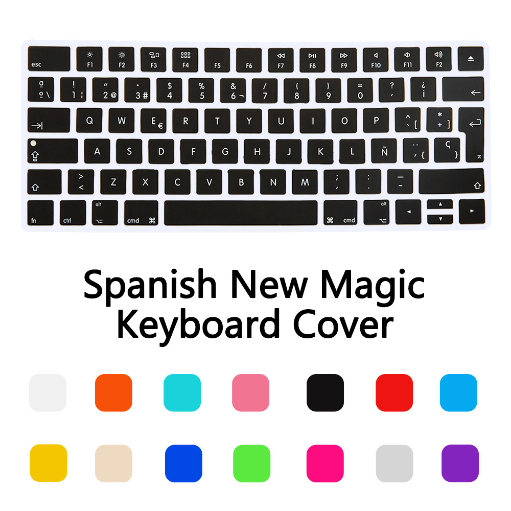 New EU Spanish Version Wireless keyboard Silicone Keyboard Cover Protector Skin for Apple New Magic Keyboard 2 Release in 2015(China (Mainland))