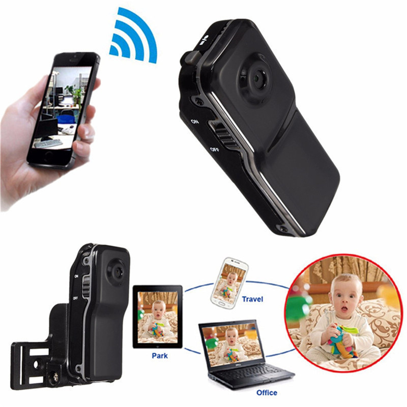 Wifi Wireless Network 32GB Mobile Remote With Bracket USB Cable Surveillance Camera TF Card MD81 ABS(China (Mainland))