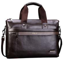 New Arrivals High Capacity PU Leather Men Business Briefcase Bag Dot Shoulder Bag Men Laptop Bag bolsa maleta Handbag Free(China (Mainland))