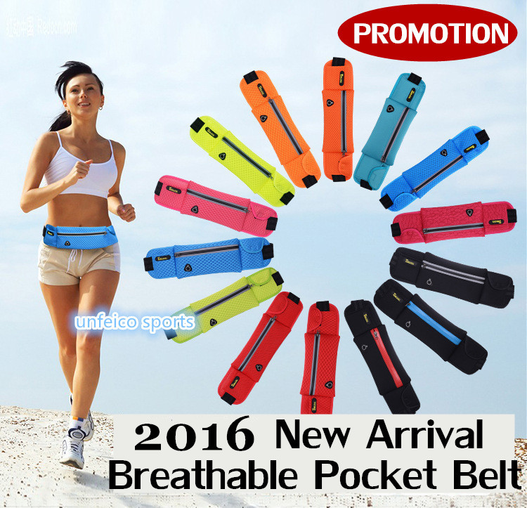 10pcs/lot~Running Pocket Belt-Outdoor Sports Couple Nylon Pocket Belt With Earphone Hole And Reflective Zipper~DHL Free Shipping<br><br>Aliexpress