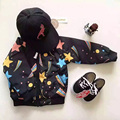 Pattern Star Flight Jacket Baby Winter Jacket Coat Boys Girls Parka Kids 2016 Ykk Zipper