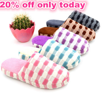 2015 autumn&winter women slippers lover unisex fashion warm cotton slipper at Home Indoor Shoes plush men bed room flat slippers(China (Mainland))