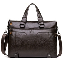 2017 Men Casual Briefcase Business Shoulder Leather Messenger Bags Computer Laptop Handbag Men's Travel Bags handbags(China (Mainland))