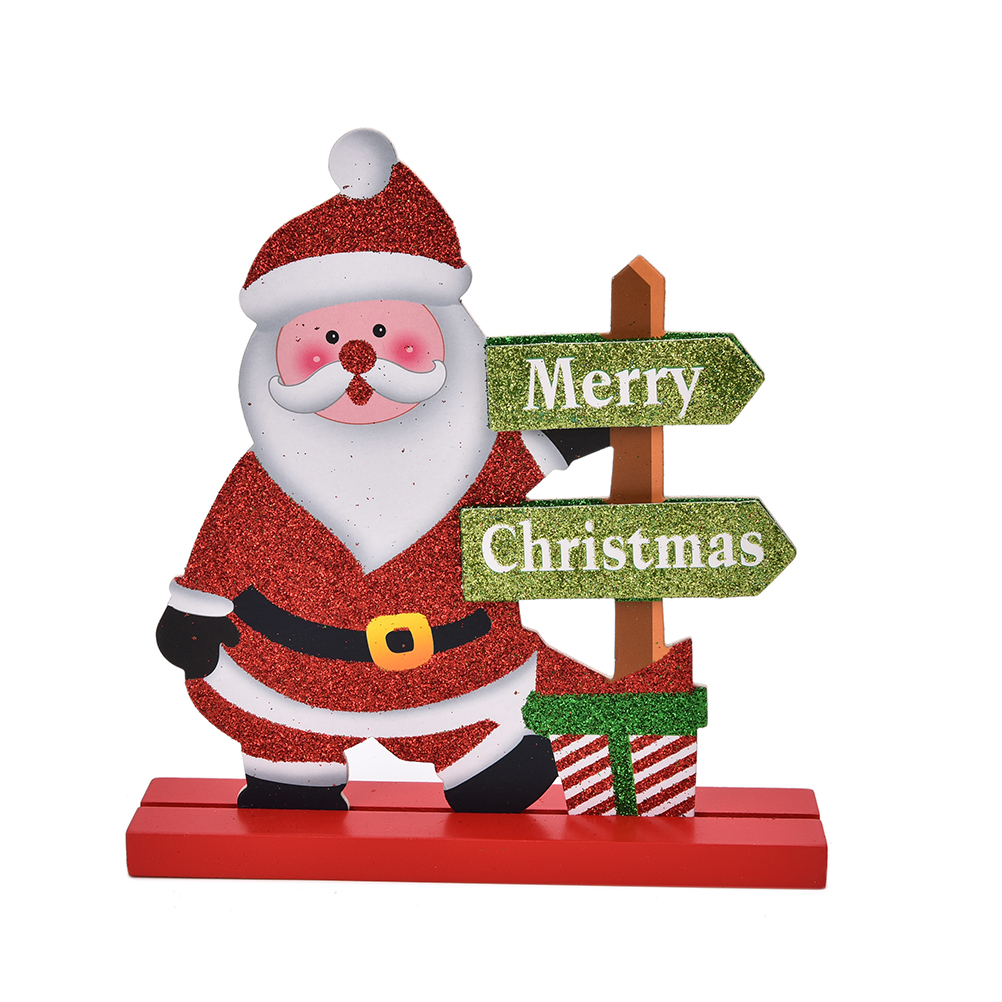 Online get cheap wooden snowman crafts Christmas table dressing