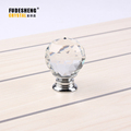 Gold Glass Dresser Pulls Drawer Pull Handles Crystal Kitchen Cabinet Door Handle Rhinestone Clear Modern Furniture Knobs SJ-5002