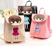 Cartoon child parent-child bags female PU backpack child school bag little girl casual travel backpack(China (Mainland))