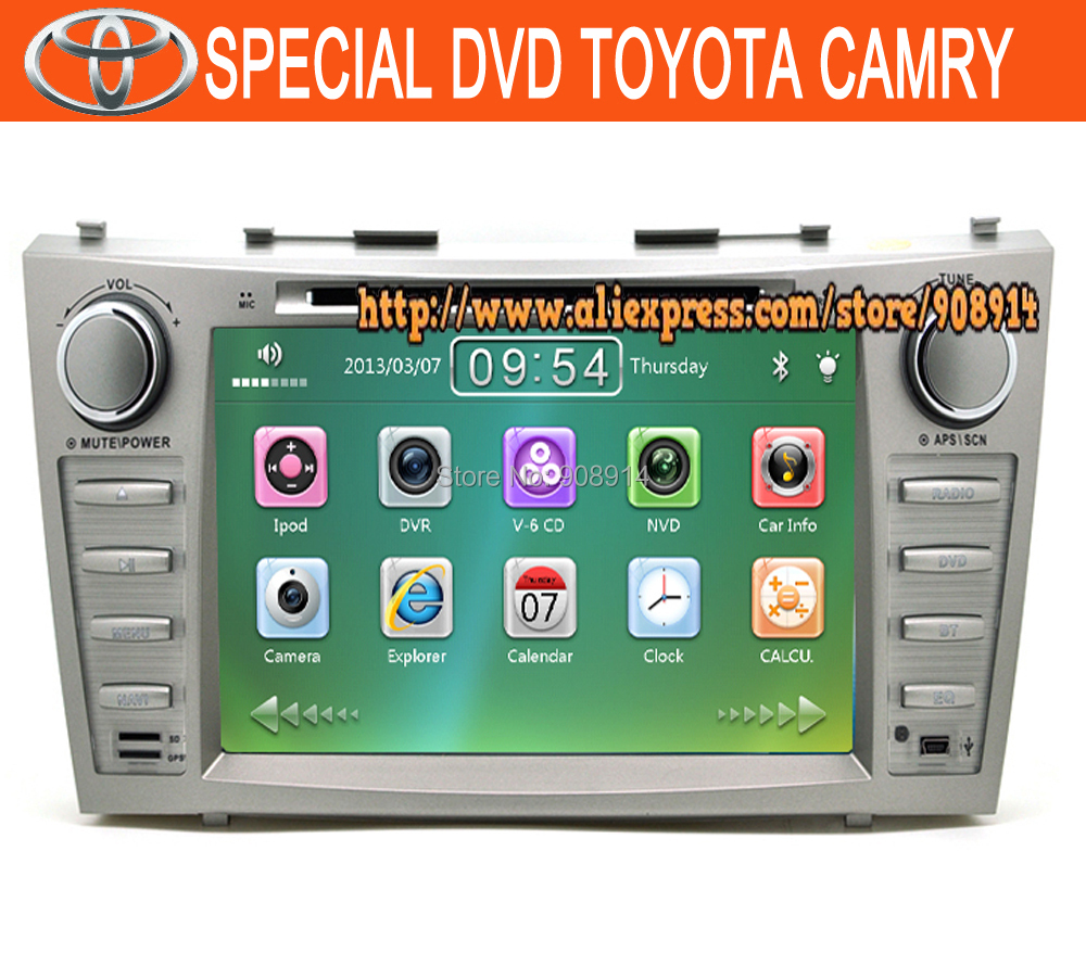 Factory Price!TOYOTA CAMRY Car DVD with GPS Navigation TV+Russia map+RADIO Free Shipping!(China (Mainland))