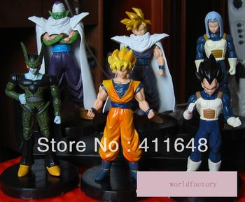 """6Pcs/Set Dragonball Dragon Ball Z Action Figure Toy Pvc GOKU SON GOKOU VEGETA Super Saiyan 12cm/5""""Free Shipping"""