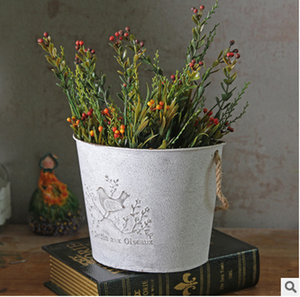 Popular wall hanging flower pots buy cheap wall hanging for Fence hanging flower pots