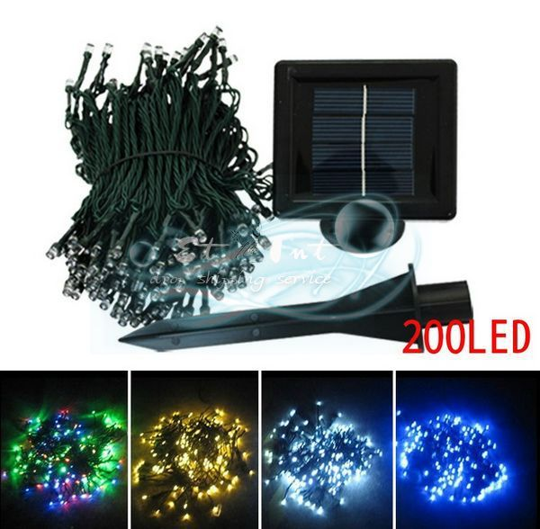 Wholesale 200led solar lights holiday lights decorative garden lights outdoor patio string - Decorative garden lights ...