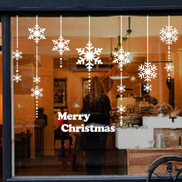 Adesivos De Natal Para Janelas ~ Aliexpress com Compre Enfeite de natal de parede adesivos para janela porta de vidro adesivos