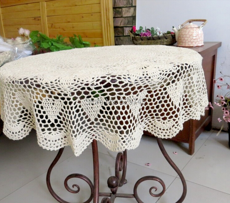 Nappe table basse ronde
