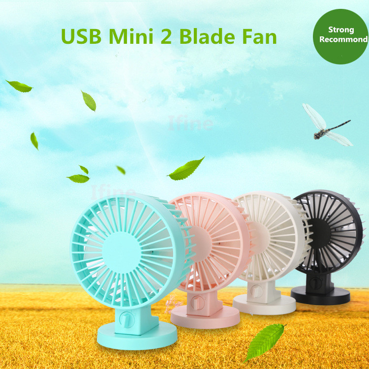 2016 New 4 inch 2 Blade Mini USB Fan Cooling Portable Desktop Air Small Office Desk Fan High quality cooler summer for gift(China (Mainland))