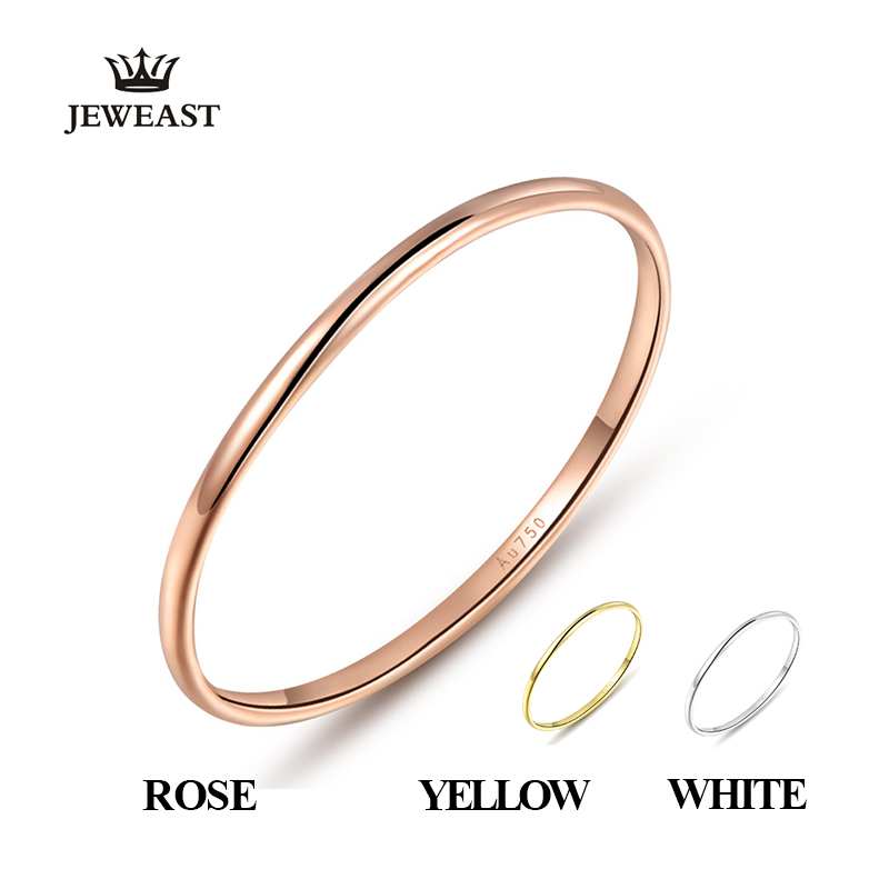 18k Gold Female Rings Beautiful Exquisite Smooth Classic Real 750 Solid Rose Yellow Women Girl Gift Party Discount Good Nice new(China (Mainland))