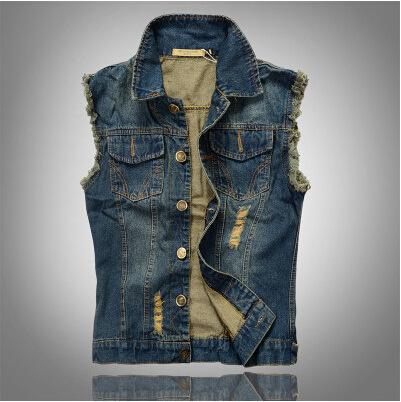 Новое поступление мужской джинсовой жилет марка джинсы жилет мужчины ковбой жилет ...