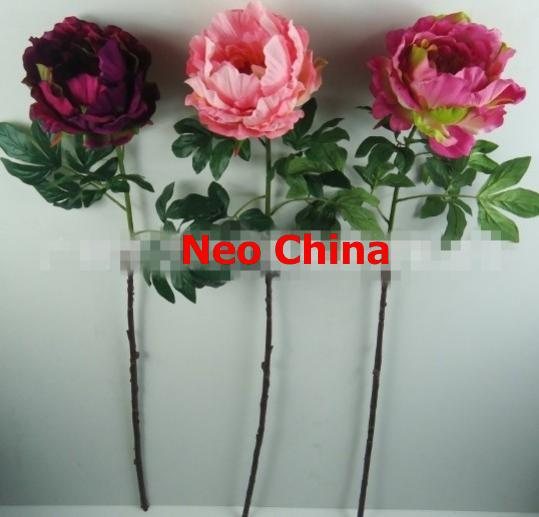 Wholesale single head spring peony flowers,high 98cm,wedding bouquets,home decoration,artificial silk flowers,free shipping