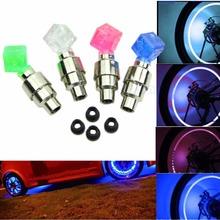 Hot new for 2pcs Dice LED Light Bicycle Bike Car Motor Wheel Valve Stem Cap tire Neon Bulb(China (Mainland))