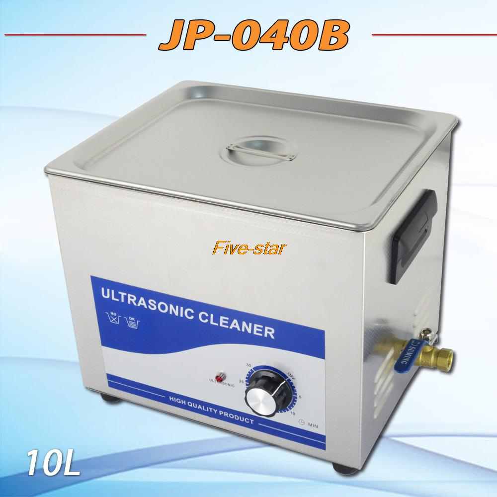Free shipping JP-040B ultrasonic cleaner 10L AC 100V ~ 240V for Hardware accessories computer motherboard washing machine(China (Mainland))