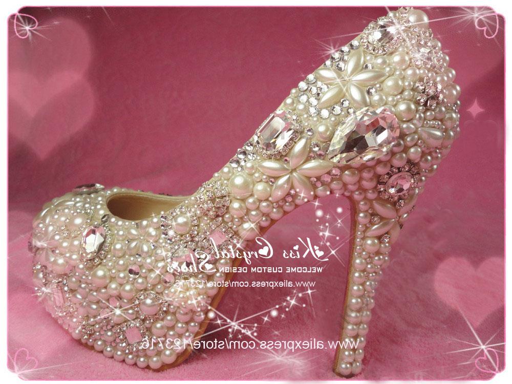 shoe shop 100% handmade designer high heel platform pumps rhinestone ivory closed toe wedding shoes(China (Mainland))