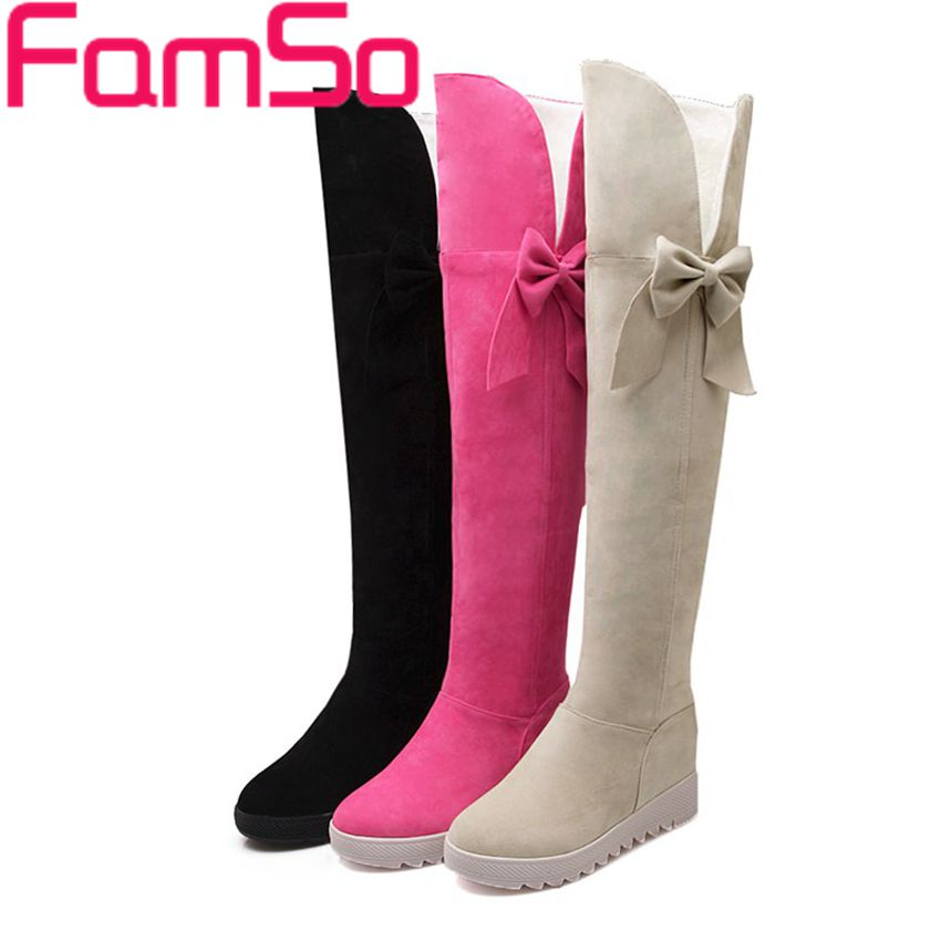 EURO Size34-43 2016 new Arrival Women Over The Knee Boots black Winter Snow Boots Female Outdoor Work Motorcycle Boots SBT3214(China (Mainland))