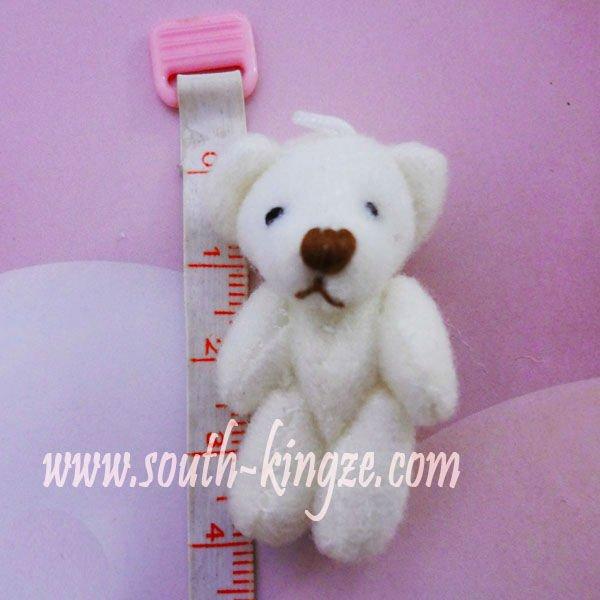 100 unids/lote, 4 cm oso de hojalata, oso de peluche, pequeños ...