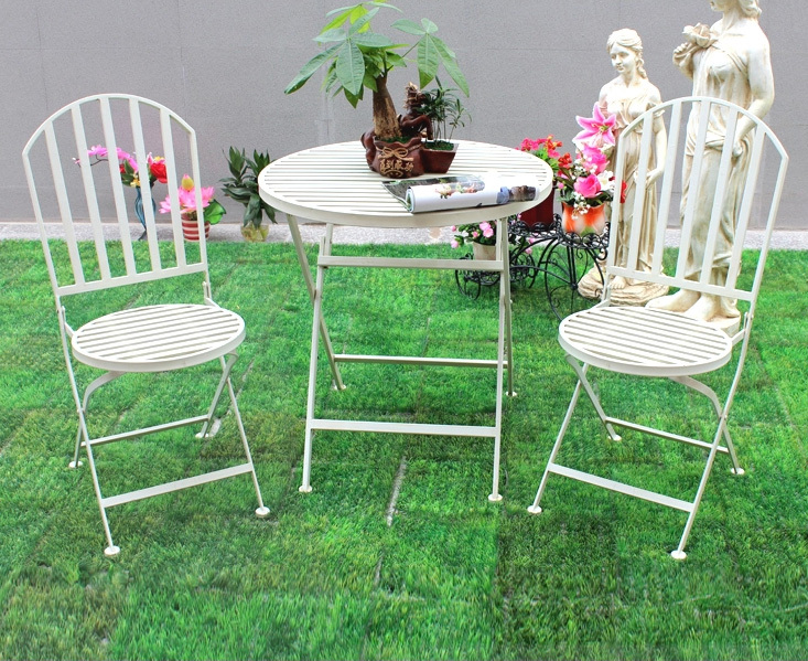 Comgarden Chair And Table Set : shipping pastoral metal garden foldable table and chair set outdoor ...