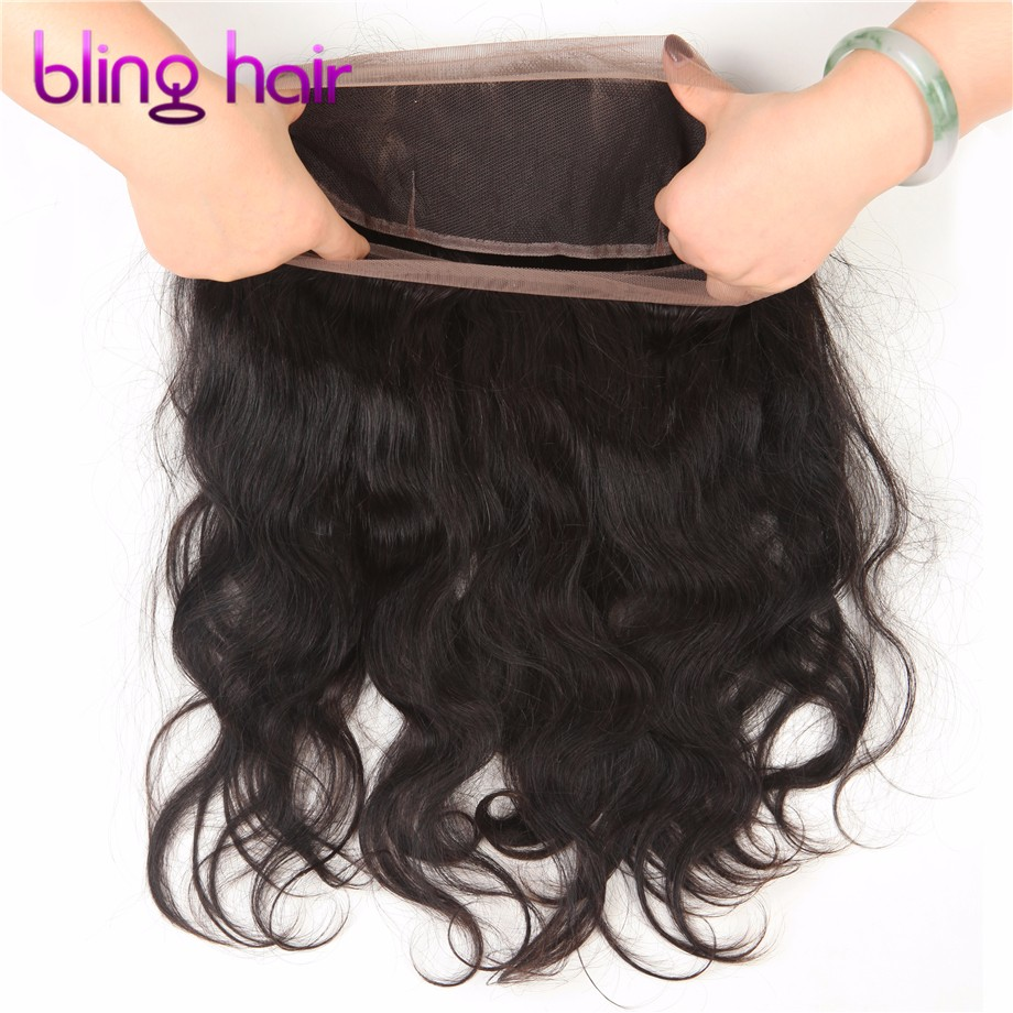 360 Lace Frontal Closure 22″x4″x2″ Pre Plucked 8A Brazilian Virgin Hair Body Wave Lace Band Frontal With 2/3 Bundles 360 Closure